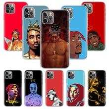 Funda de silicona 2Pac Tupac Shakur para Apple iphone 11 Pro XS Max XR X 7 8 6 6S Plus 5 5S SE 10 diez regalo