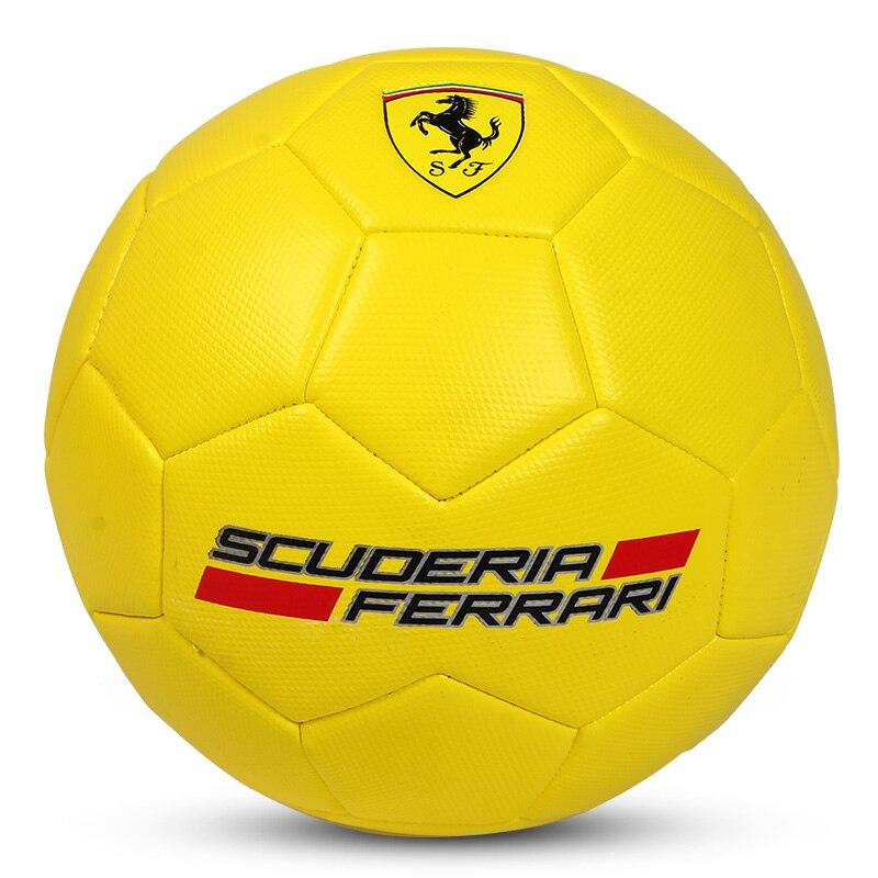 FerrariSoccer tamaño 5 textura Diamante de deslizamiento resistente al juego de fútbol balón de partidos de fútbol para más joven adolescente Juego de Pelota antideslizantes