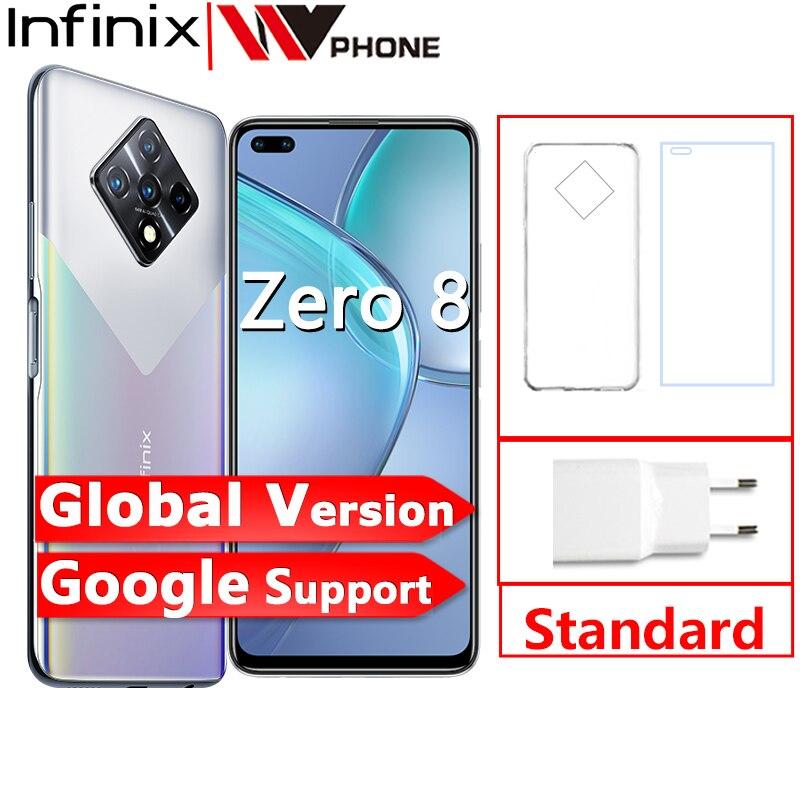 Перейти на Алиэкспресс и купить Новая глобальная версия Infinix ноль 8 8GB 128GB смартфон 6,85 ''fhd 90 Гц Full Экран 64-мегапиксельная четырехъядерная камера 4500 мА/ч, Батарея 33 Вт Зарядное ...