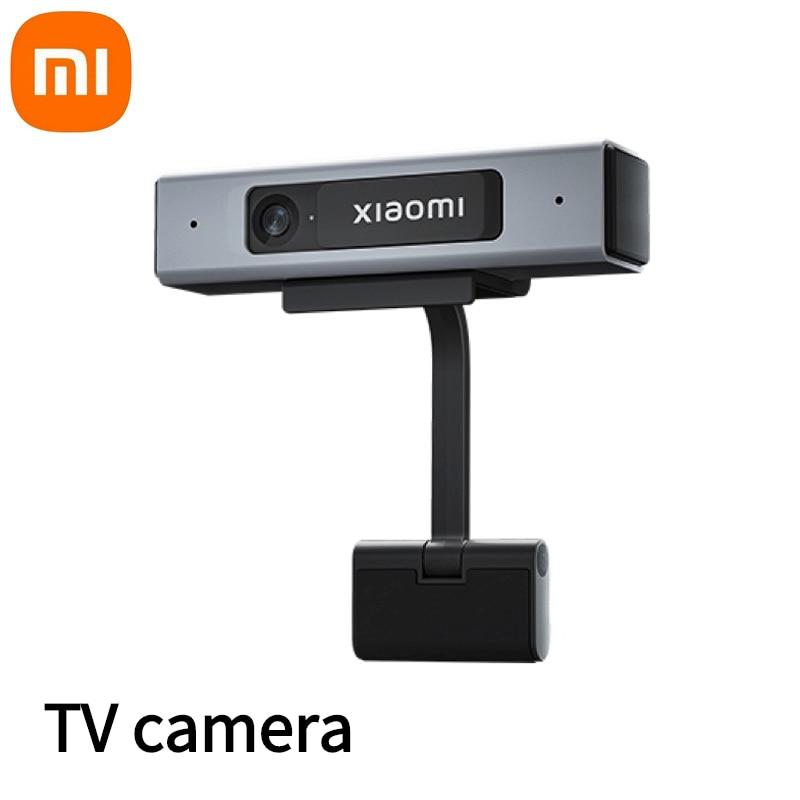 كاميرا تلفاز من شاومي Mi Mini 1080P HD جودة الصورة مدمجة في الميكروفونات المزدوجة غطاء الخصوصية لاجتماعات العمل كاميرا الدردشة العائلية