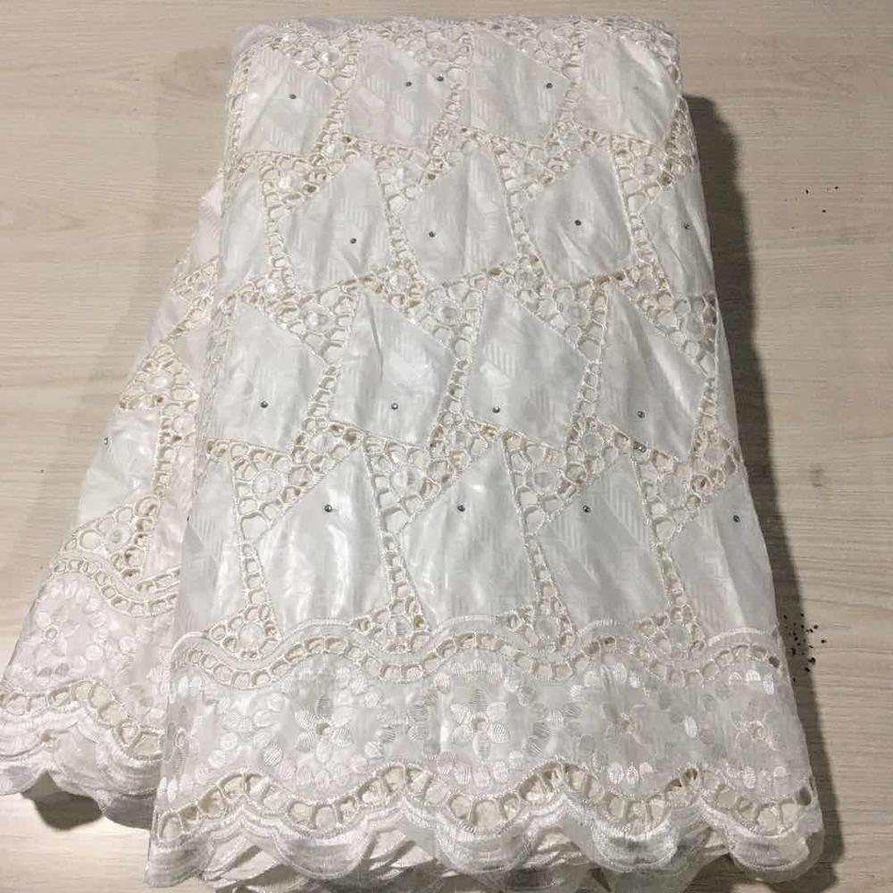 Tela Blanca, tela riche para lavabo, tela atiku, encaje africano, material brocado de guinea, tela bazin riche, tela nigeriana de encaje, 5 yardas