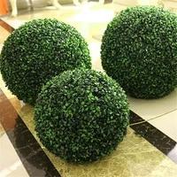 Boule de plantes vertes en plastique  decoration de maison  en plein air  de mariage  boule dherbe suspendue  a faire soi-meme