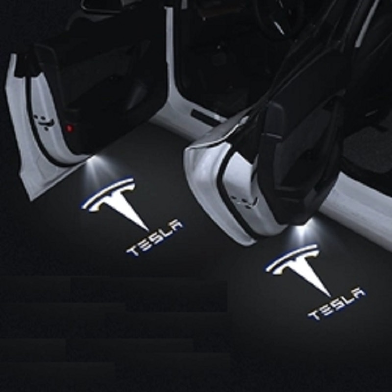 2pcs for Tesla Model S Tesla Model 3 X Y Led Car Door Welcome Light logo Projector Laser lamp Ghost Shadow Door light Accessory