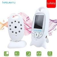 two way intercom night vision baby security camera baby monitor wireless nanny camera 2 0 inch color temperature monitoring