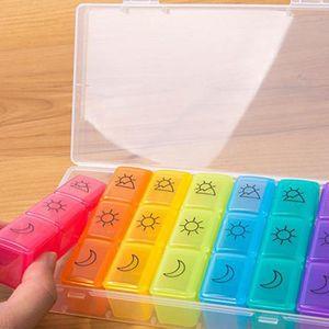 Weekly Tablet Box Holder 7 Days 21 Grid Medicine Storage Organizer Case 28GA