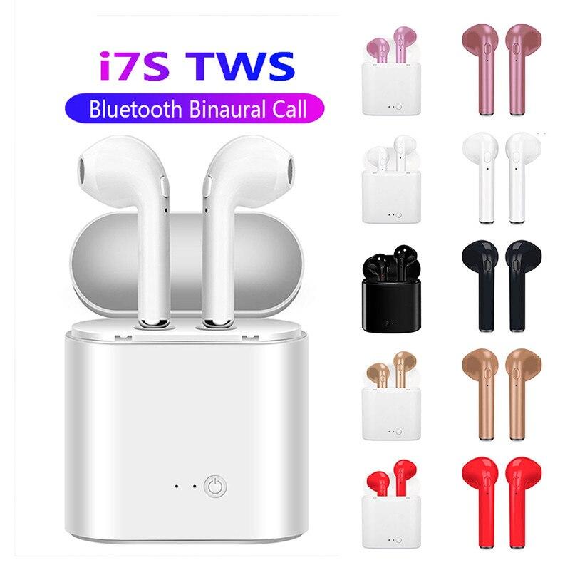 I7s TWS 5,0 Bluetooth Kopfhörer Stereo Ohrhörer Bluetooth Headset mit Lade Pod Drahtlose Headsets für xiaomi Alle Smart Telefon
