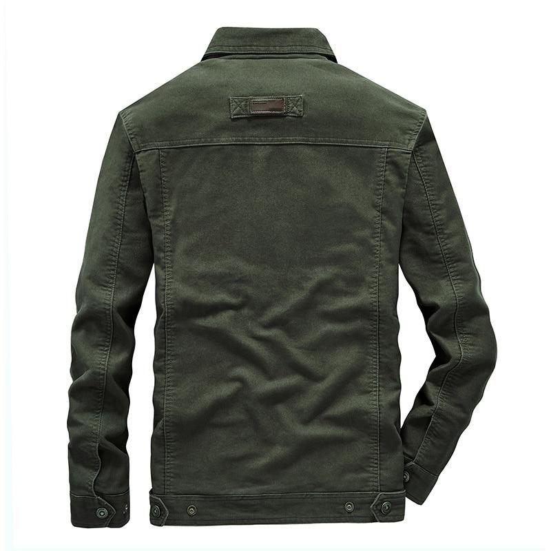 Middle aged jacket men's spring autumn casual cotton dad's loose large men's collar work jacket men's coat