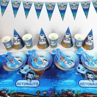 the octonauts theme kids birthday party decoration disposable paper plate cup tablecloth party supplies baby shower party decor