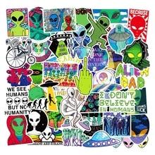 50 шт./лот Стикеры пакет мультфильм наклейки с пришельцами смешные детские игрушки Водонепроницаемый ноутбука скейтборд граффити на тему «ч...