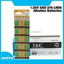 200 шт., щелочные батарейки AG0, батарейки AG0 379 618 GP379 D379 SR521SW SR63 LR521 D379 V379