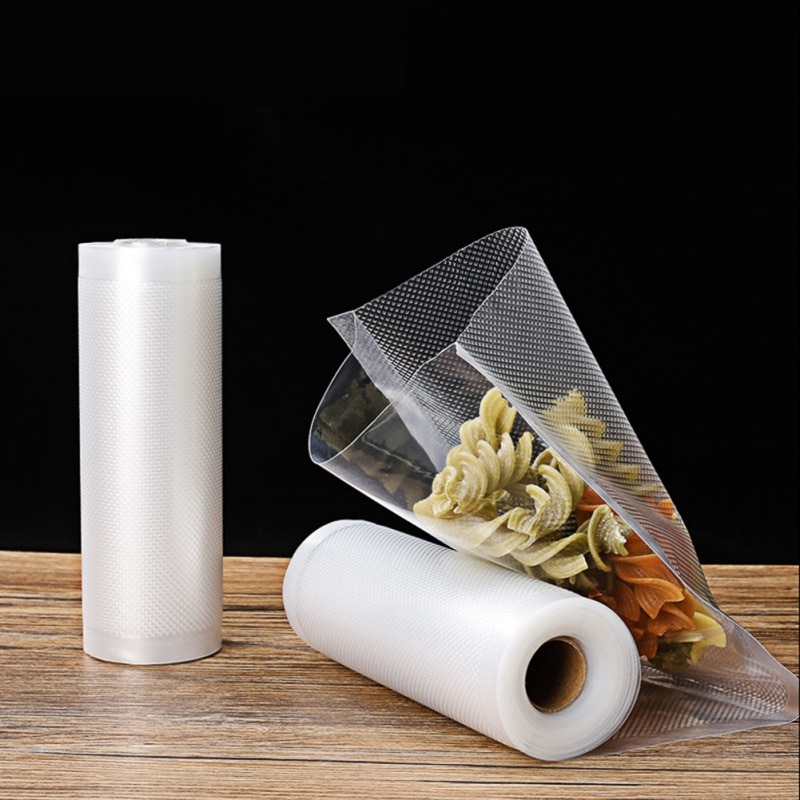 Vacuum Food Sealer Rolls Wrapper Film Foodsaver Rolling PE Food Grade Membranes Keep Fresh Vacuum Storage Bags