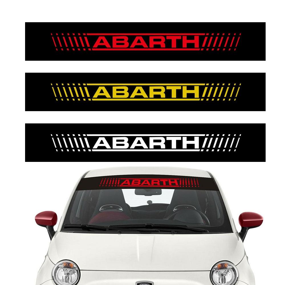 Cinta solar para parabrisas de coche FIAT ABARTH PUNTO 500, calcomanías de...