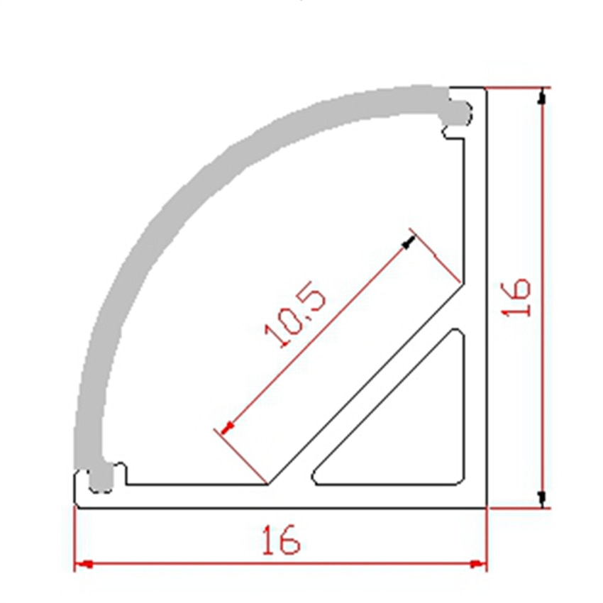 FREE Shipping  Angle Aluminum Profile with Cover and End Caps and Metal Clips for LED Strip Bar Light enlarge