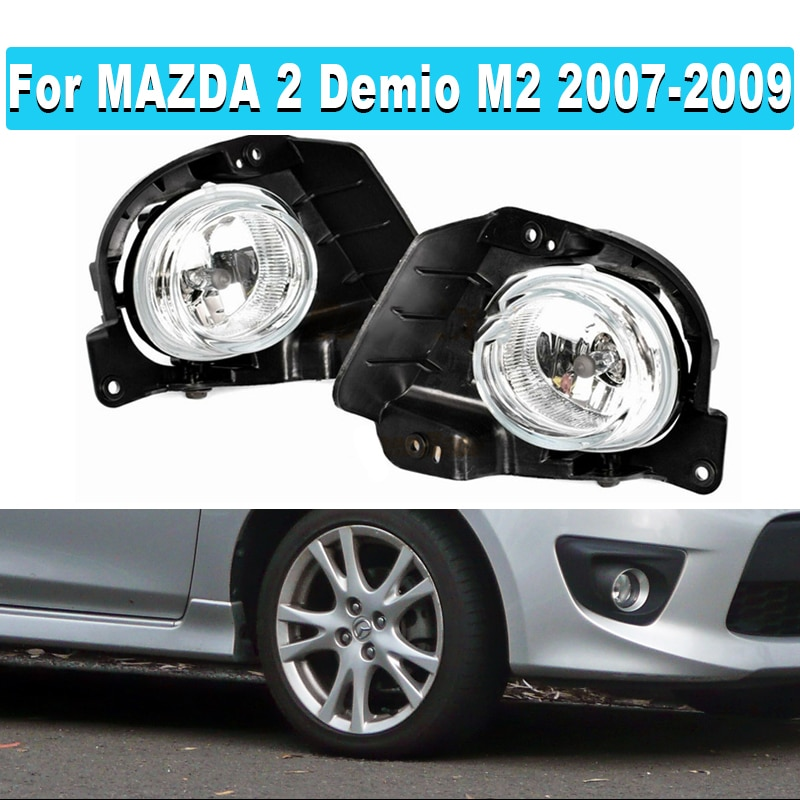 1 Set سيارة الجبهة الوفير الضباب مصباح إضاءة للضباب مع الهالوجين H11 الأسلاك التبديل تسخير لمازدا 2 Demio M2 2007 2008 2009