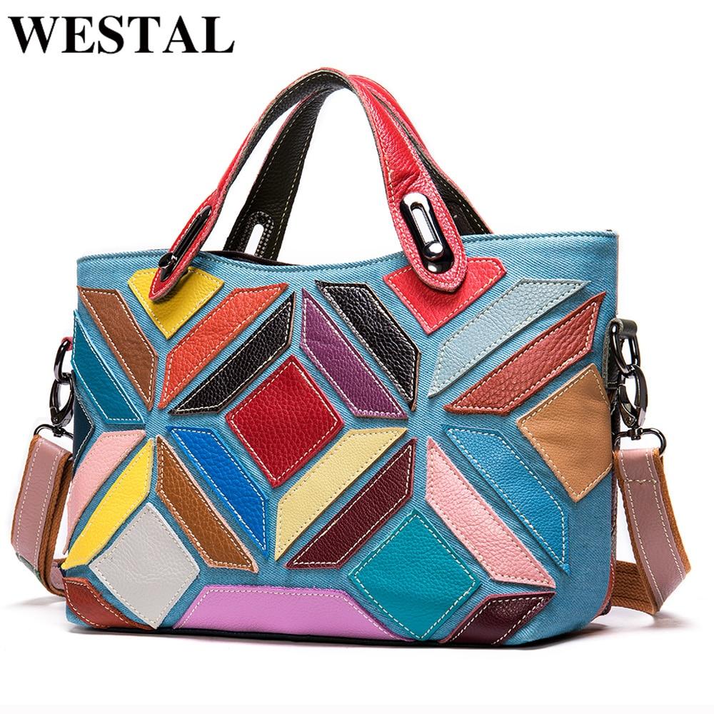 WESTAL أكياس للنساء 2020 المرأة الكتف حقيبة جلد طبيعي مصمم حقيبة crossbody حقائب للنساء حقائب اليد حقائب النساء