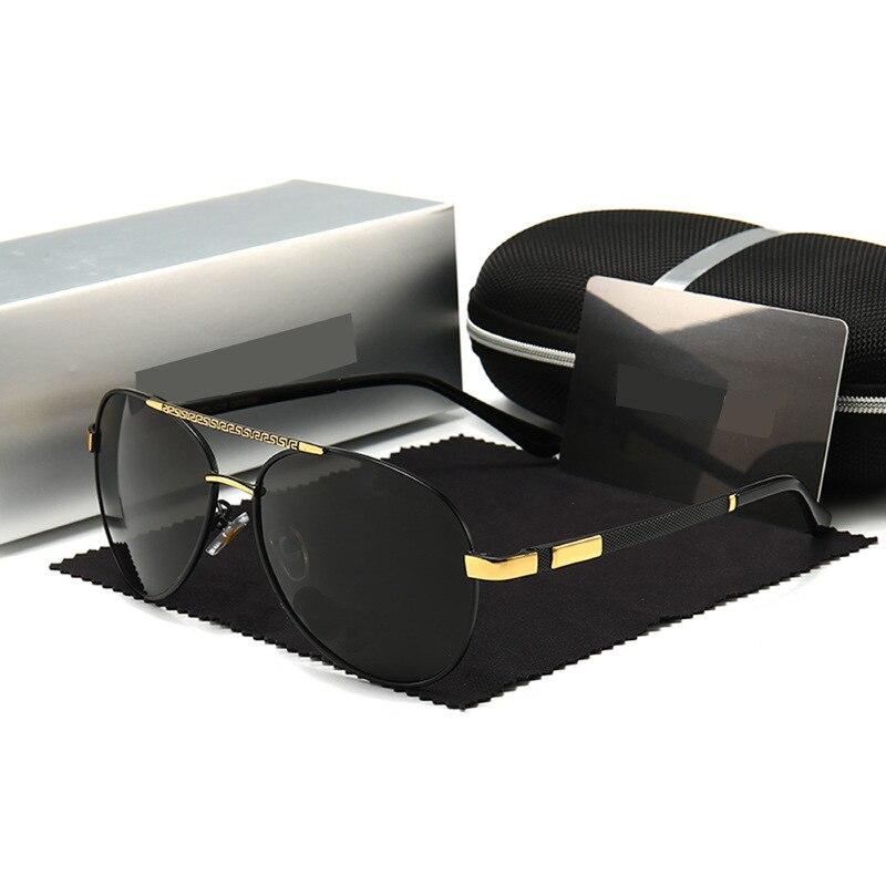 Солнцезащитные очки Мужские поляризационные, модный козырек от солнца для автомобиля и мотоцикла, для отдыха, с большой оправой, для вожден...