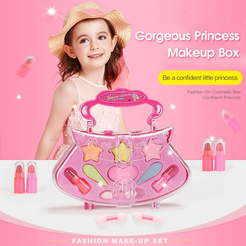 Kids Makeup Set Princess Cosmetics Make Up Set For Girls Pretend Play Make Up Toys For Children Kids Princess Dress Up Princess