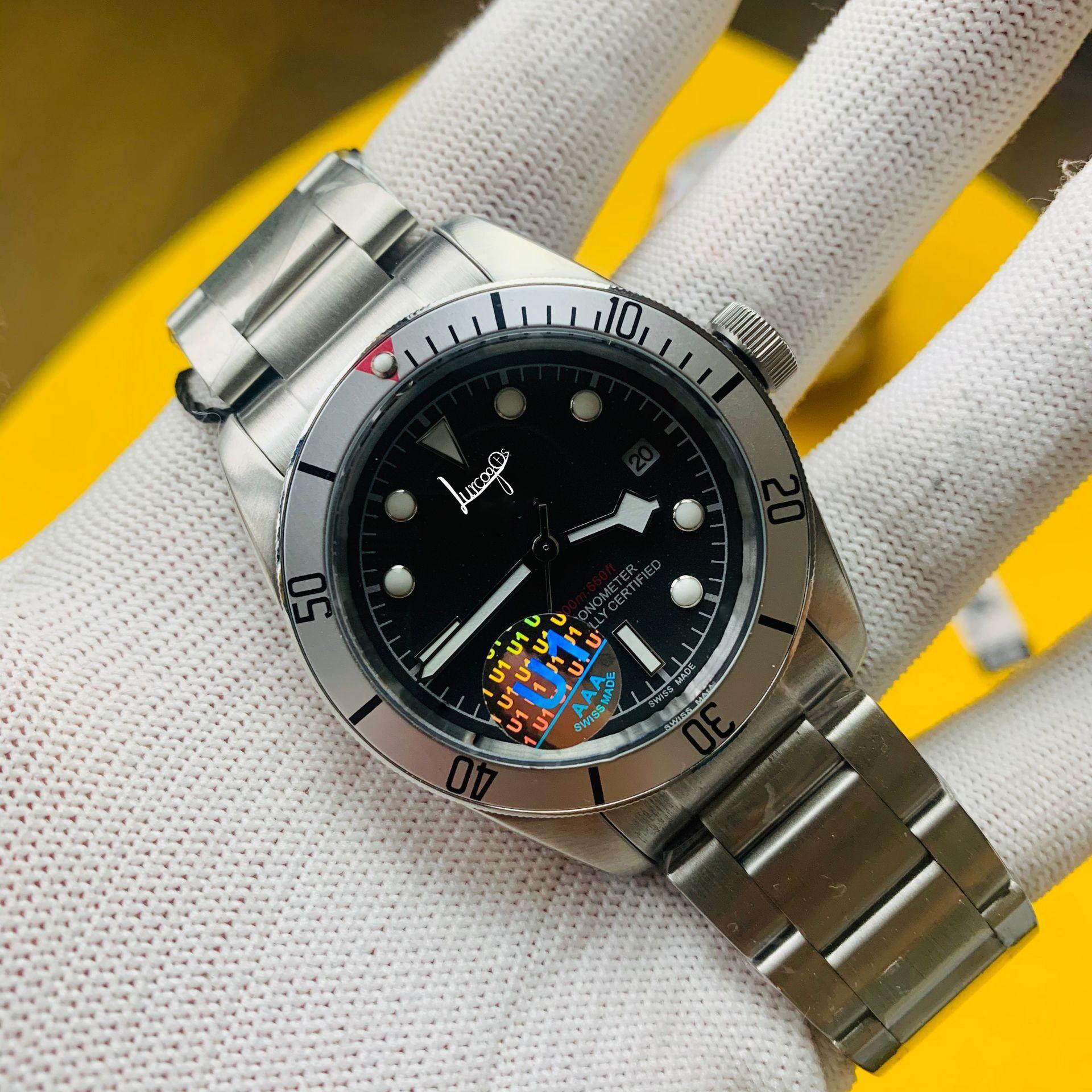 Top quality Men Automatic Watch Sapphire Luxury Mechanical Wristwatch Stainless Steel Waterproof mens Watch
