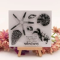 ocean starfish tortoise clear stamps scrapbook christmas card paper craft silicon rubber roller transparent stamps