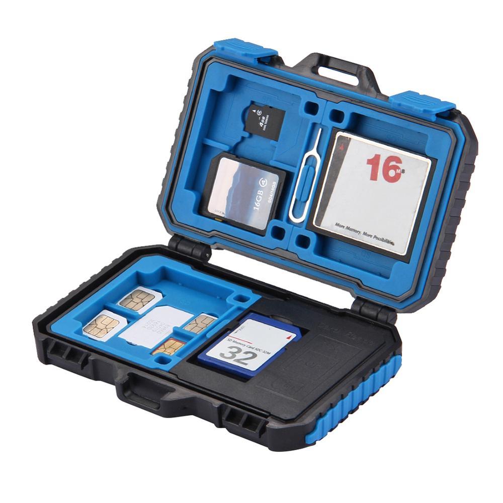 puluz card reader 22 in 1 waterproof memory sd card case storage box for 1standard sim 2micro sim 2nano sim 7sd 6tf 1card pin Card Reader 22 in 1 Memory Card Case for 1Standard SIM 2Micro-SIM 2Nano-SIM Card Pin 35FP18