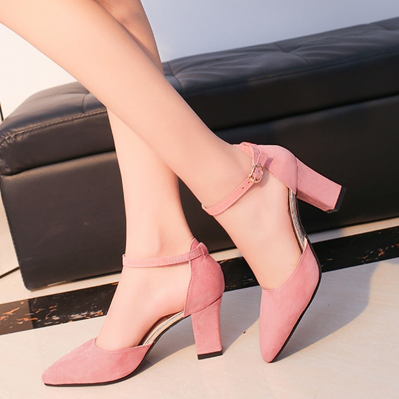 2020 Fashion High Heels Newest Women Pumps Summer Women Shoes Thick Heel Pumps Comfortable Shoes Woman Platform Shoes s0013