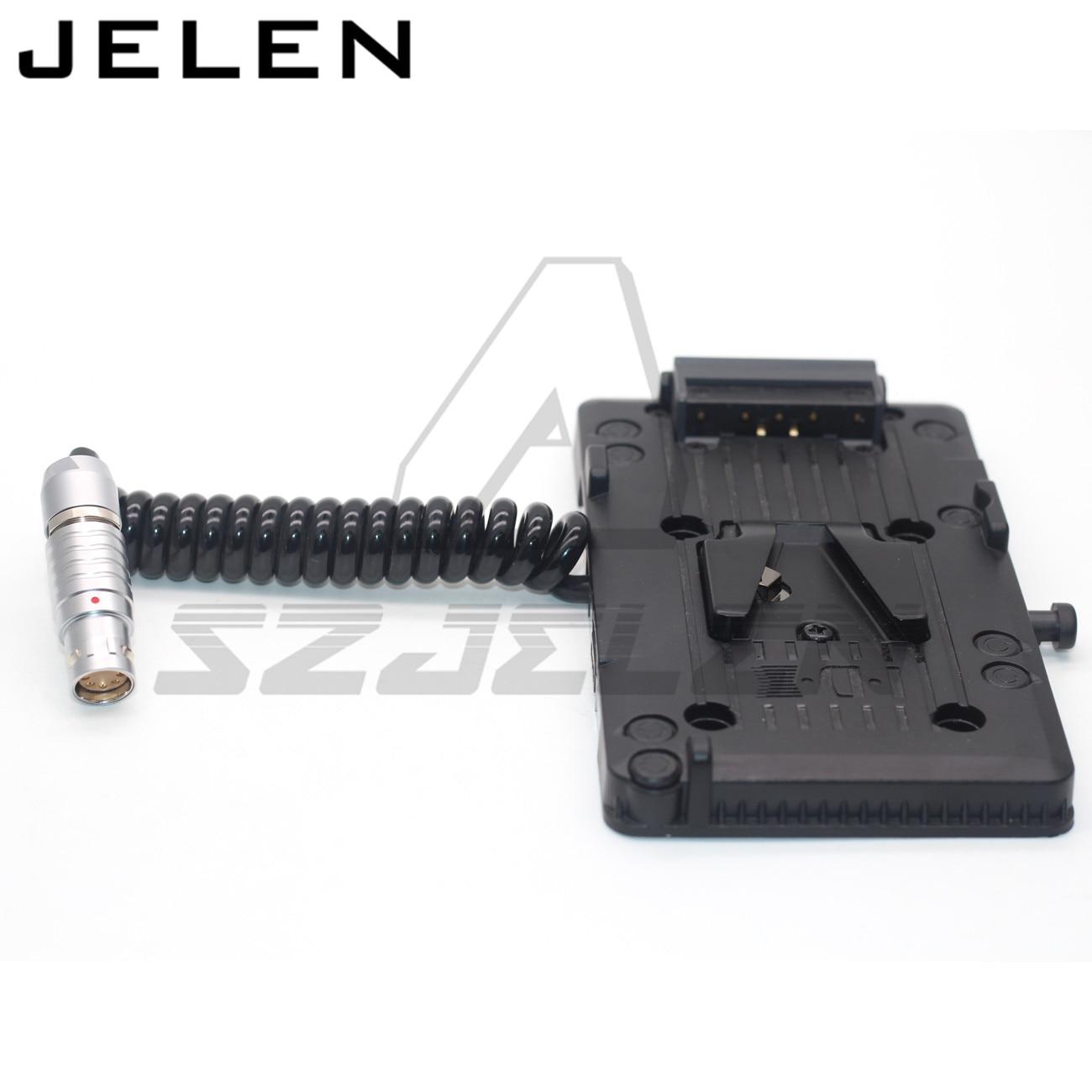 Idx P-V2 bateria pendurado placa para 8pin plug fêmea para v-porto arri mini cabo de alimentação