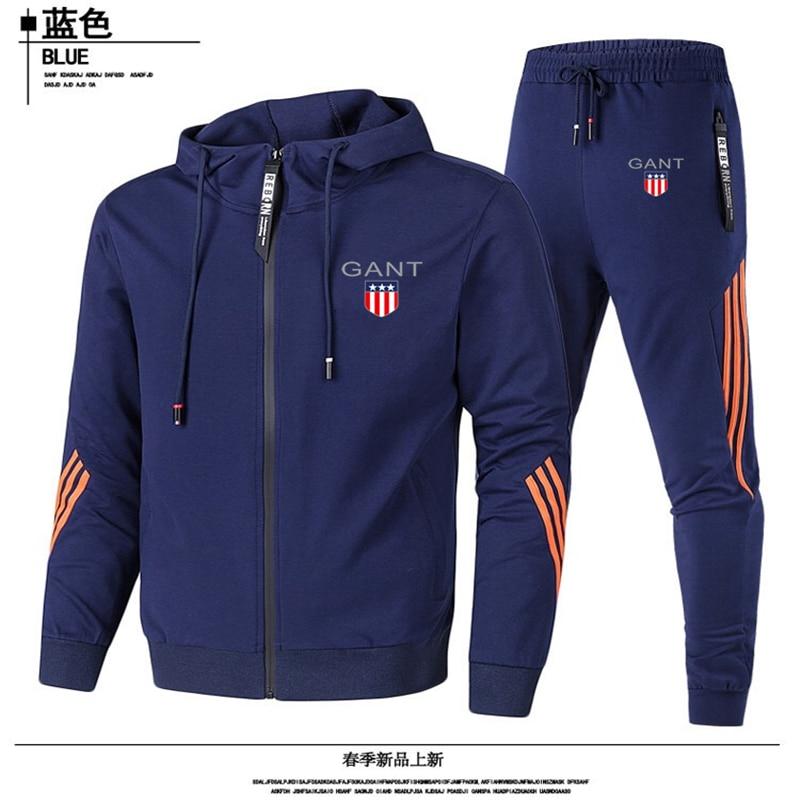2021 novo terno de corrida masculino, terno casual masculino, jaqueta com zíper masculino e calças, terno esportivo masculino