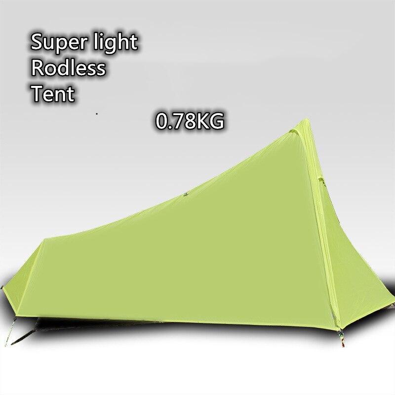 1Person Ultralight Outdoor Camping Tent Camp Hiking Sleeping Gears Rodless 4 Seasons Weatherproof Super Green Beach Tourist Tent