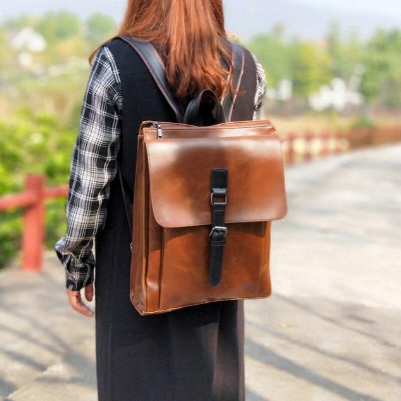 Tidog Vintage shoulder bag women's fashion art college wind backpack