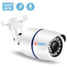 BESDER-caméra IP 2 mp/3 mp/5 mp   Caméra de sécurité IP SONY IMX335, caméra Audio dextérieur ABS en plastique, IP DC12V/48V, PoE, étanche, IPC