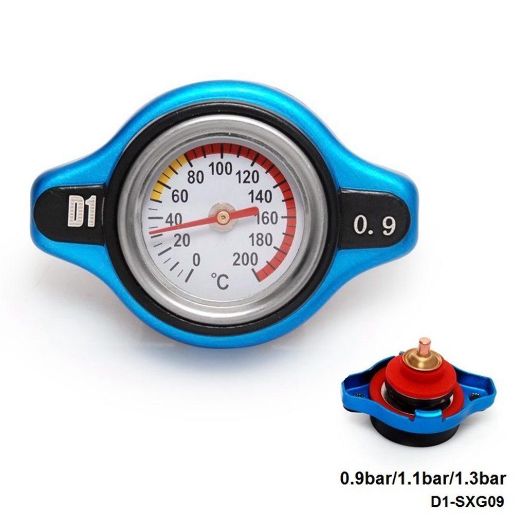 D1 Spec Racing Thermost Radiator Cap Cover + Water Temp gauge (0.9 bar/1.1bar/1.3bar) Universal Small Head  D1-SXG09