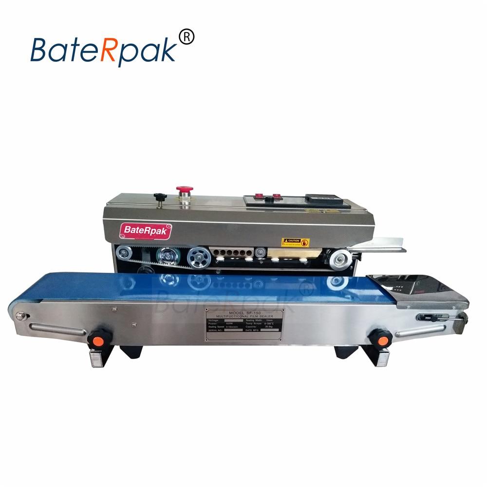 SF-150  BateRpak Horizontal Continuous film sealing machine,band sealer,stainless steel heat sealing machine 110V/220V недорого