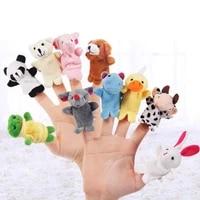510pcs animal finger puppet plush toys puppets hand dolls cute cartoon animal doll child baby favor dolls kids toys