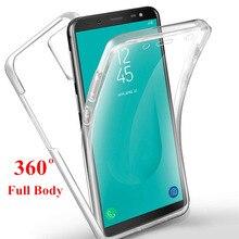 360 pleine couverture pour Samsung Galaxy A51 A71 A21S A31 A41 A70 A50 A40 A30 A20 S8 S9 S10 Plus S10E S7 edgeA750 A6 A8 Plus 2018