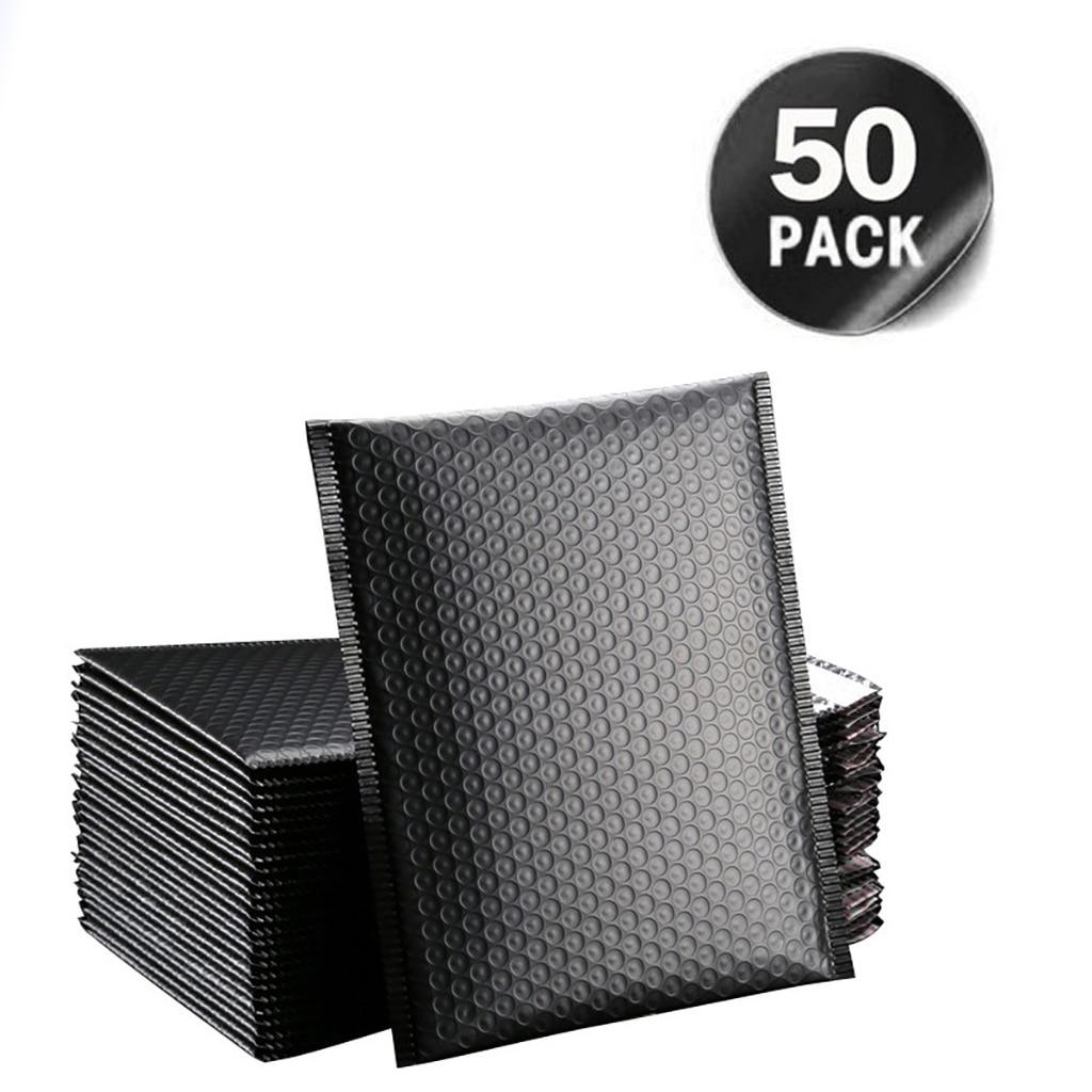 Подарочная упаковка, 50 шт., черная упаковка, искусственная подкладка, для офиса, для самостоятельной сумки, для магазина подарков