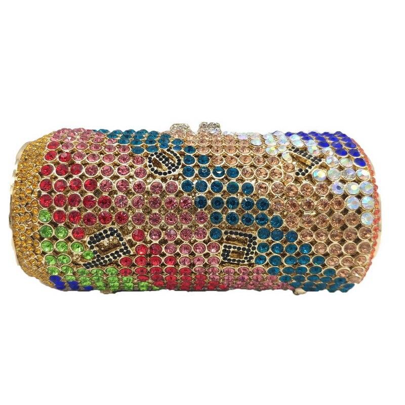 امرأة جديدة وصول تصميم نوعية جيدة التألق مساء مخلب حقيبة يد كريستال حجر الراين محفظة البيرة يمكن الماس حقائب يد