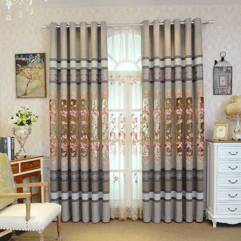 Paso nieve para encontrar ciruela cortina sprite paño inferior estilo chino ciruela flor hueco bordado de cuerda cortinas de gama alta