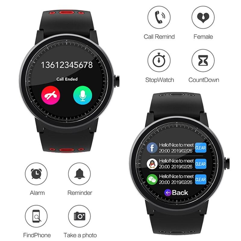 NORTH EDGE Smart Watch Men Waterproof IP67 Blood Pressure Heart Rate Tracker Watches 2020 Monitor Bluetooth Smartwatch HD Screen enlarge