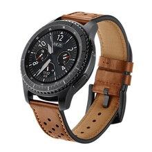 20/22mm bracelet pour montre Galaxy 3 46mm/42mm/Active 2 Gear S3 frontier/S2/Sport bracelet en cuir véritable Huawei montre GT 2/2e/pro/fit