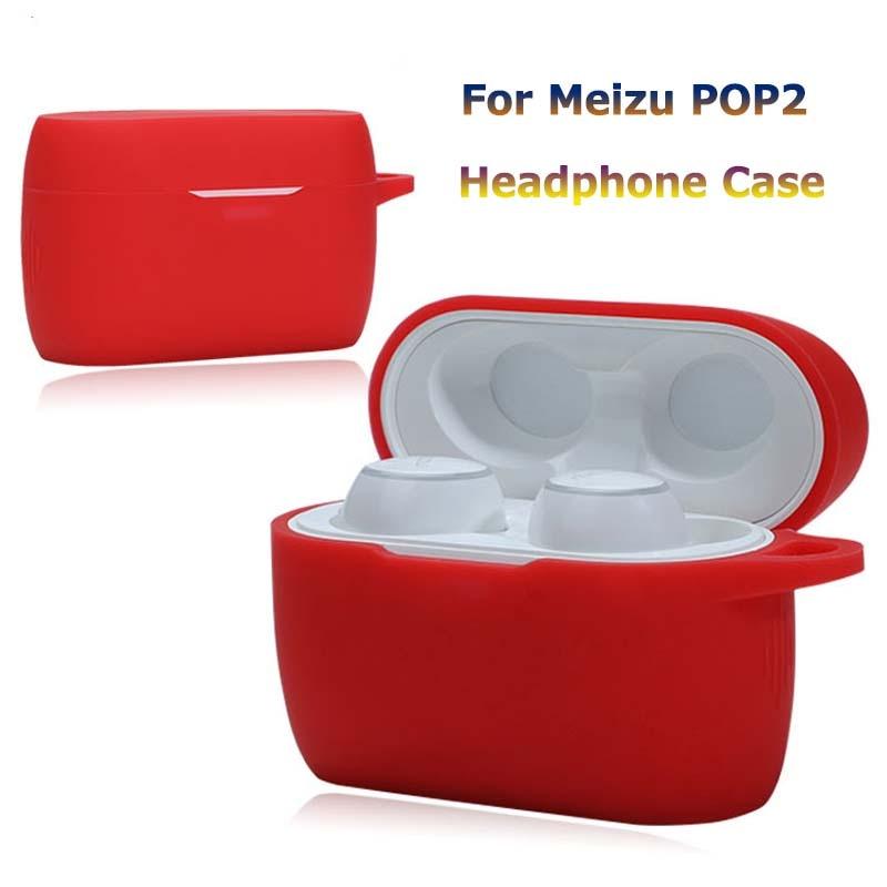 De silicona Bluetooth auricular inalámbrico para MEIZU POP2 cubierta protectora para MEIZU POP2 accesorios caja de carga