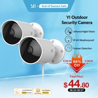 Камера видеонаблюдения YI Outdoor IP-65, водонепроницаемая, с функцией ночного видения