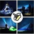 COB налобный фонарь USB Перезаряжаемые фары Применение 18650 BatteryHead светильник Мощный светодиодный головной светильник Водонепроницаемый Рыбалка светильник на заводе
