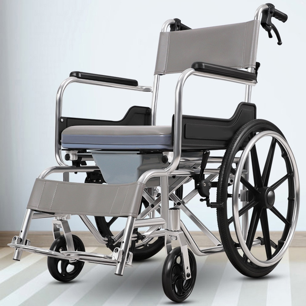 Wheelchair with toilet for the elderly Wheelbarrows for the elderly Folding wheelchairs for the disabled enlarge