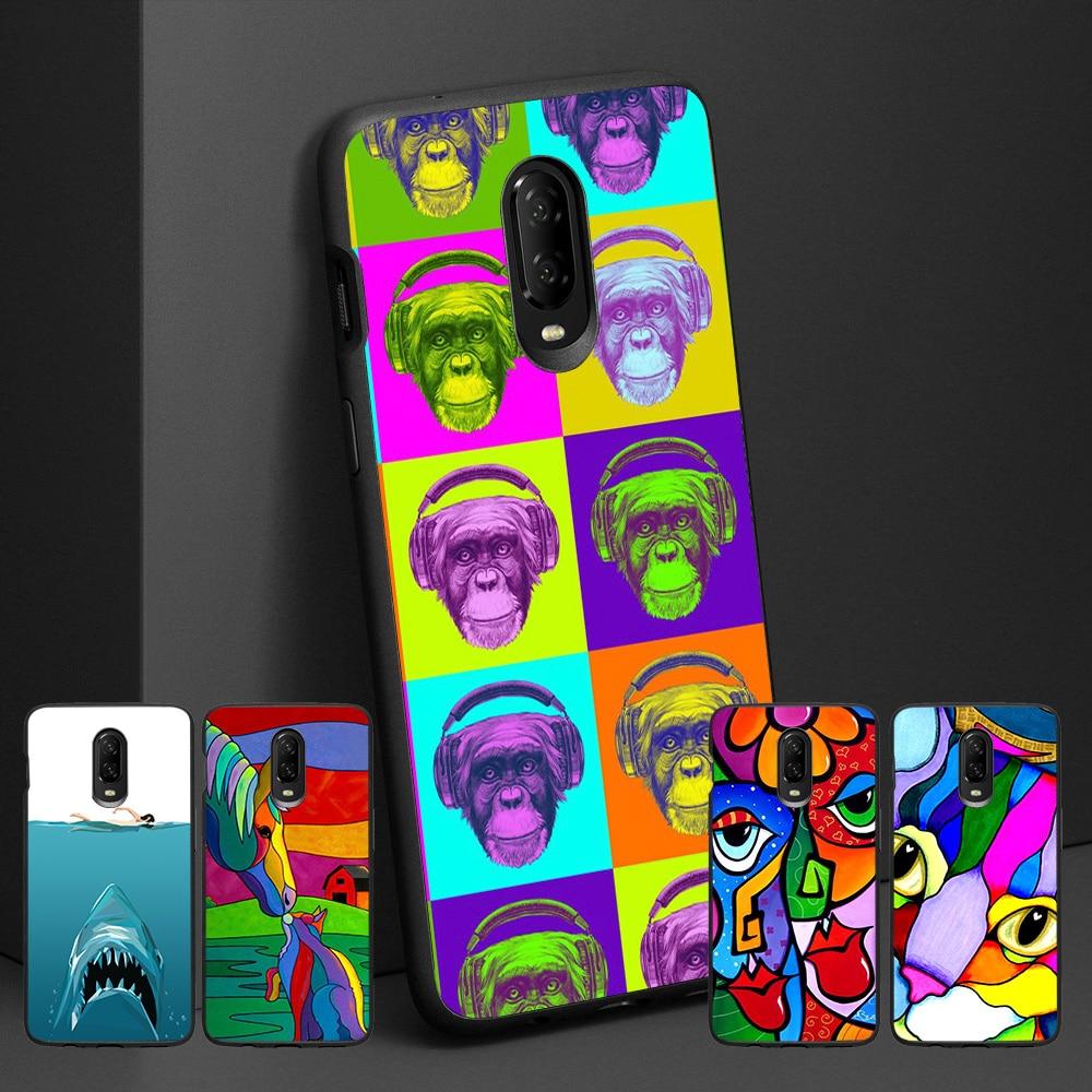 De moda mono color Fundas para Oneplus 6t 7t 7 pro cubierta de la caja del teléfono para Coque Oneplus 6 T 7t 7 pro teléfono casos uno más T 7 Pro 7