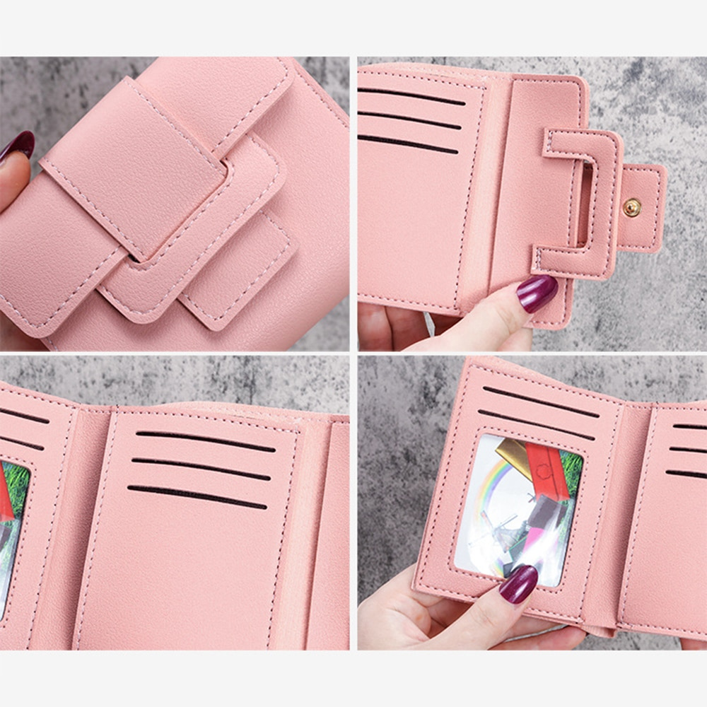 Fashion Tri-fold Zipper Women's Wallet Made Of Pu Leather Pocket Coin Purse Female Luxury Clutch Bag Small Card Holder For Women  - buy with discount