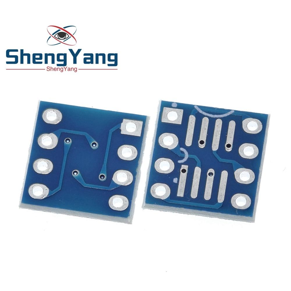 Shengyang 10 pces so8 soic8 soic8 para dip8 placa de adaptador placa pcb interposer novo