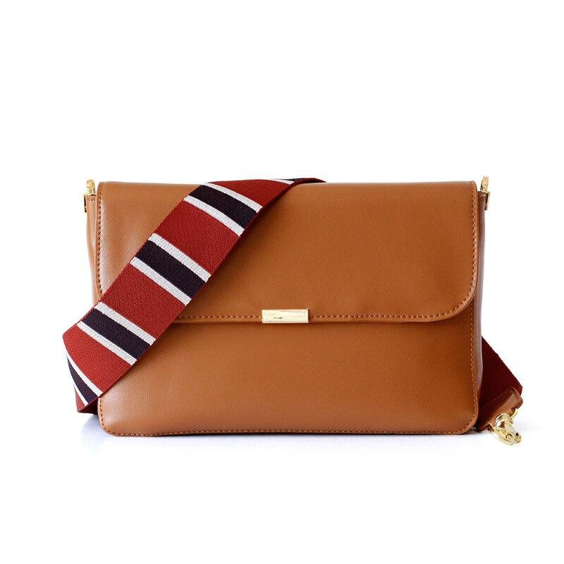 انقسام الجلود واسعة حزام المرأة حقائب كروسبودي غطاء بسيط حقائب كتف
