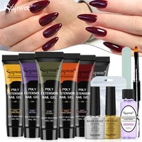 supwee poly nail gel set extension with top base coat nail gel kit uv gel nail manicure for nail dealers and novice nail artists
