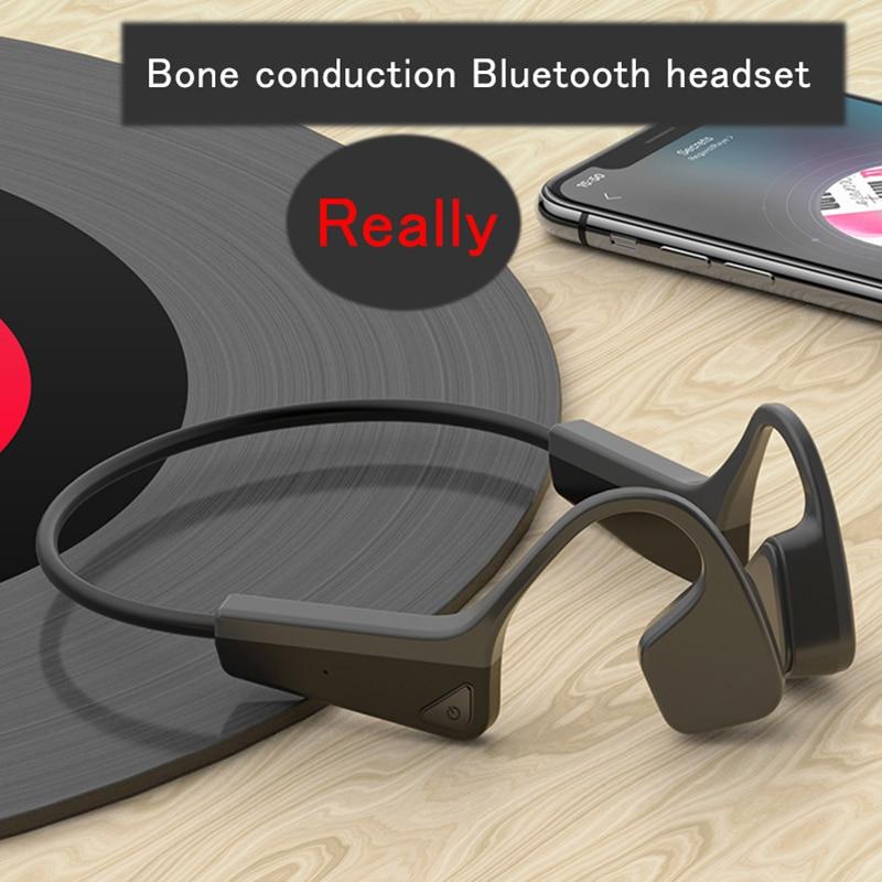 بلوتوث 5.0 سماعات توصيل العظام سماعات لاسلكية للرياضة IP56 سماعة ستيريو حر اليدين مع ميكروفون لتشغيل