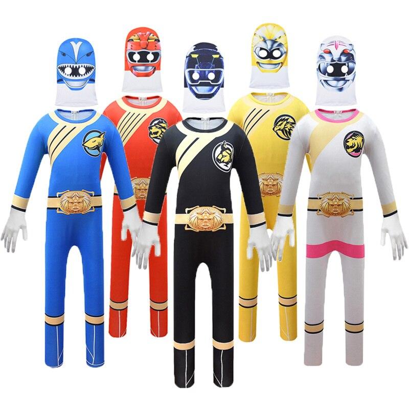 Costume de Superman Power pour garçons, tenue de fantaisie pour enfants, super-héros drôle de Thunder Red Ranger, Cosplay, Halloween et carnaval, 2020